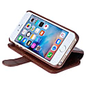 iPhone Luxury English Leather Phone Wallet with 3 Card Slots in Rich Brown image