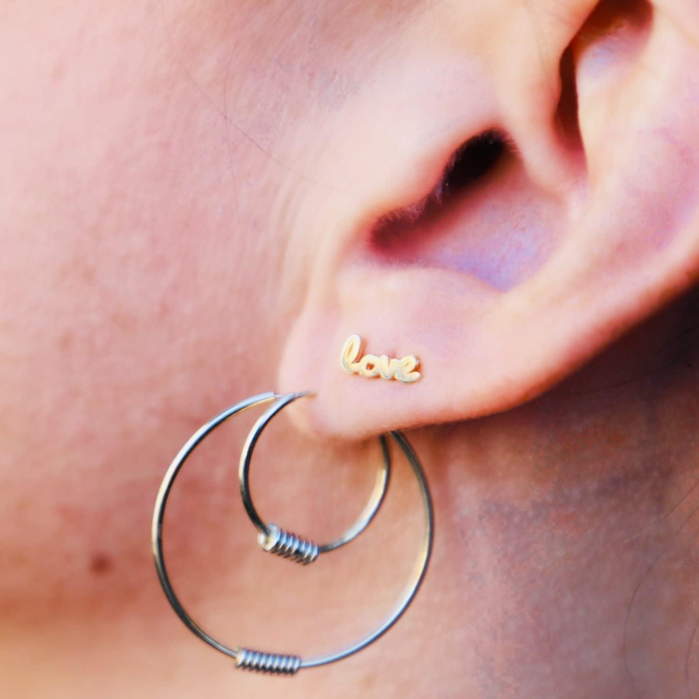 Wrap Me Up 14k Gold Medium Endless Hoop Earrings Elliot Young
