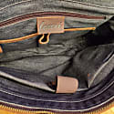 Vintage Look Genuine Leather Messenger In Worn Brown image