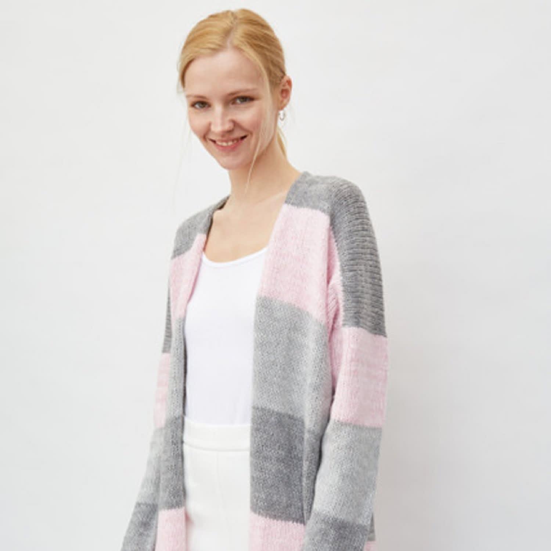 Long Striped Cardigan Pink by You by Tokarska