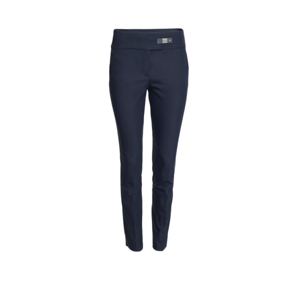 Blue Stretch Cotton Slim Fit Trousers