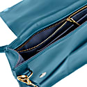Wanderer Leather Crossbody Purse In Blue image