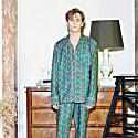 Green Crown Print Cotton Pjs image