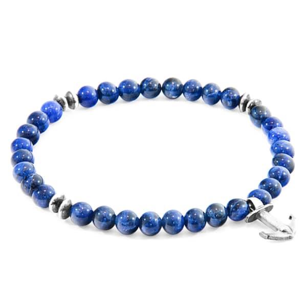 ANCHOR & CREW Silver & Blue Sodalite Stone Starboard Bracelet