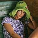 Bloom Crochet Sun Hat In Lime Green image