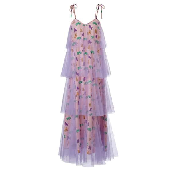 SUPERSWEET X MOUMI Binkie Dress Tigers Pink Tulle