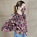 Cotton Poplin Blouse With Ruffled Sleeves image