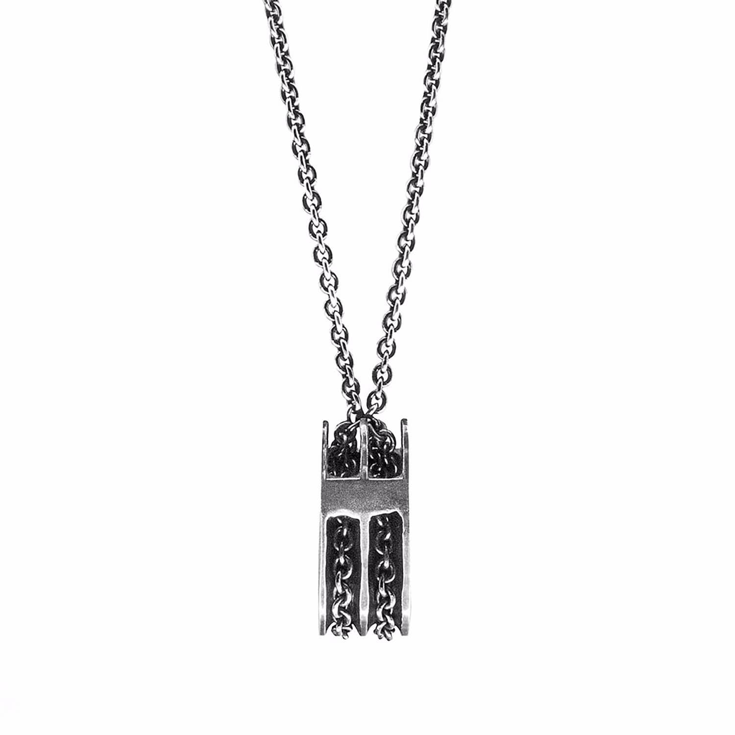 Anchor and Crew Mens Rothesay Pulley Pendant Silver