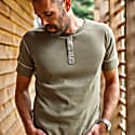 The New Elder Henley Short Sleeve Shirt Army Green image