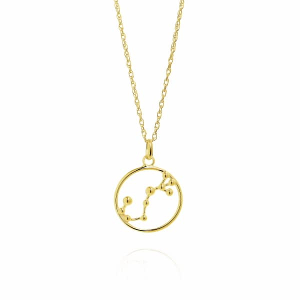 YASMIN EVERLEY JEWELLERY Scorpio Astrology Necklace in 9ct Gold