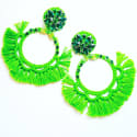 Lime Green Puskul Earrings  image