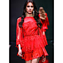 Red Cocktail Dress With Embroidery image