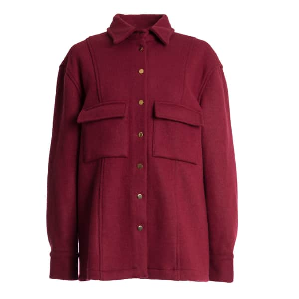 TOMCSANYI Skala Wool Shirt Jacket Ruby in Red