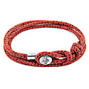 Red Noir Dundee Silver & Rope Bracelet image
