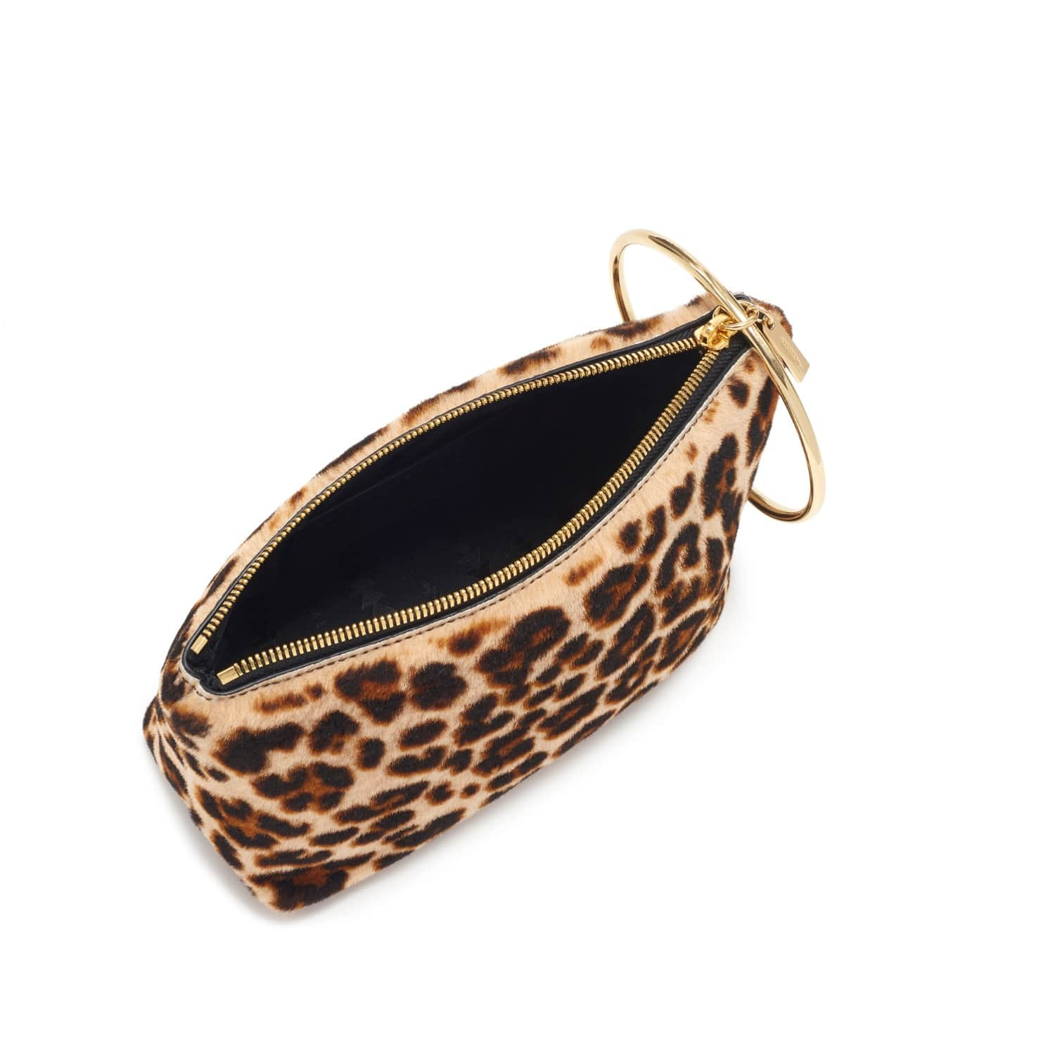 Large Ring Pouch In Leopard Shearling image 168f669046ae1