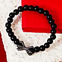 The Claw Oxidised Sterling Silver Mens Matte Black Bracelet image