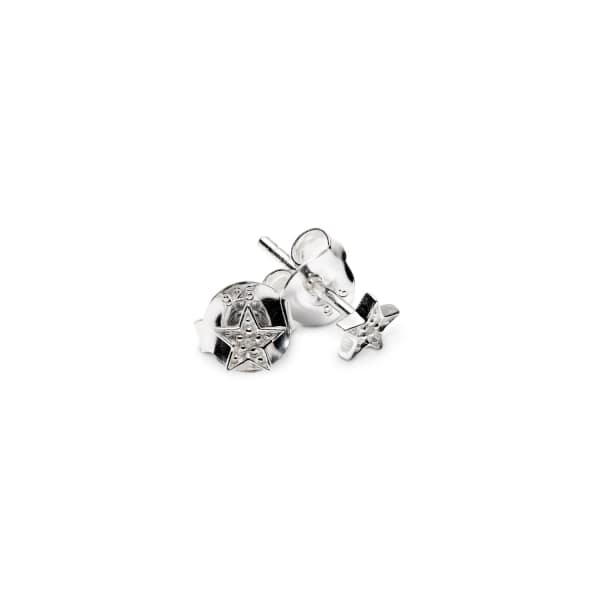 ISABEL LENNSE Mini Star White Diamond Eearrings