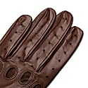 Arezzo - Men's Leather Driving Gloves In Saddle Brown Nappa Leather image
