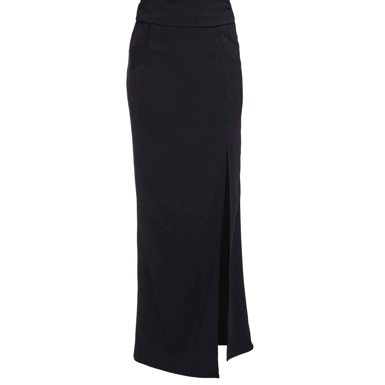 Philosofée - Black Tailored Maxi Skirt