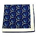 Sparks & Cogs - Blue - Hand Rolled Silk Pocket Square image