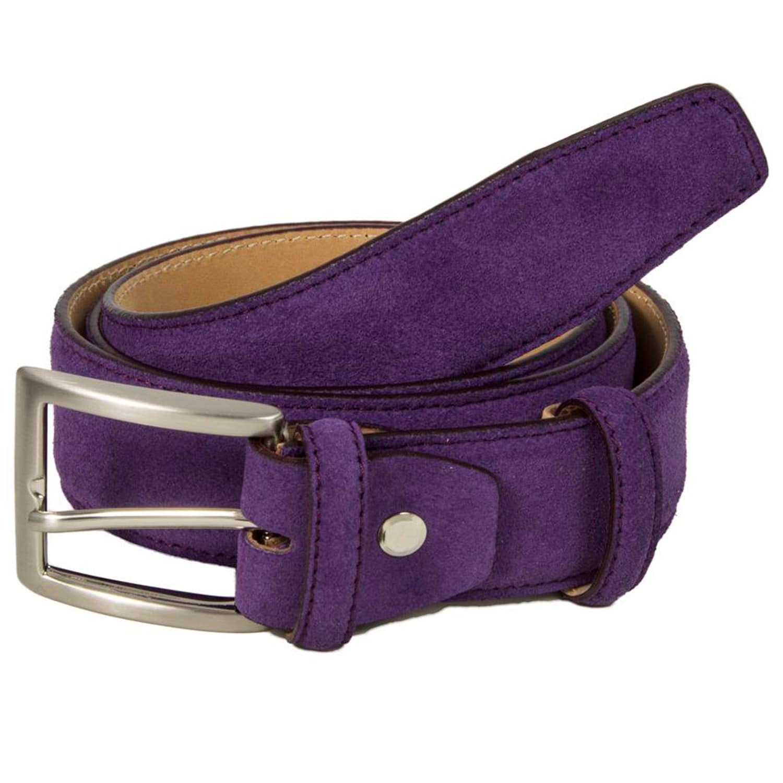 40 Colori Mens Trento Suede Leather Belt Beige