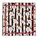 Medium Carrots & Roses Silk Scarf No Border image