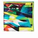 Teal Twill Silk Pocket Square image