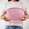 Lunar Metallic Pink Leather Wash Bag image