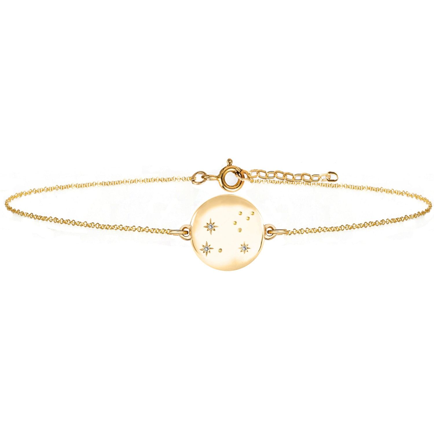 No 13 - Leo Zodiac Constellation Bracelet Yellow Gold & Diamonds