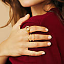 Pearled Signet Ring- Gold image