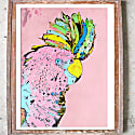 Signed Print The Punky Parrot Large image