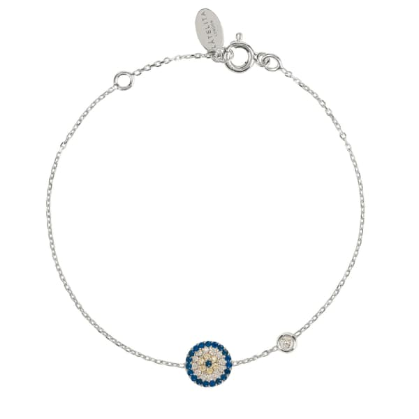 LATELITA LONDON Evil Eye Bracelet Silver