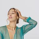 Sasha Gold Bangle With Lolite Gemstones image