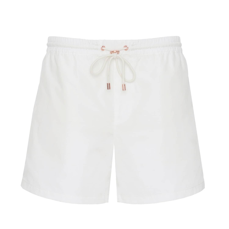 H H White Swim Short  086a77e80