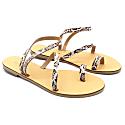 Toe Ring Sandals Mania White Boa Print image