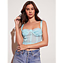 Basile Corset Top In Blue image