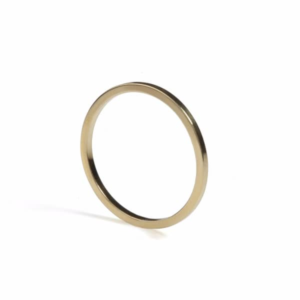Gold Ultra Skinny Square Stacking Ring