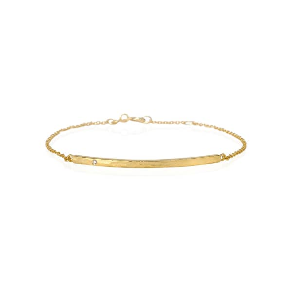 SHARON MILLS LONDON Diamond Bar Bracelet