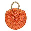 Eliza Straw Tote - Orange image