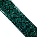 Snakeskin Silk Neck Scarf Green image