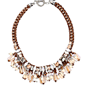Necklace Shine Like A Star - Pink & Brown image
