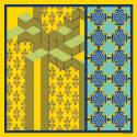 Forme Jaune & Bleu Silk Scarf image