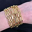 Long Link Bracelet Sterling Silver image