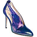 Keto Sling Back Blue Leather Heels image