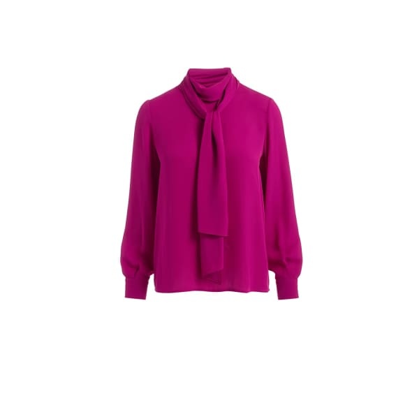 Ida Pink Scarf Silk Blouse