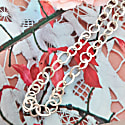 Small Leaf Chain Necklace In Sterling Silver image