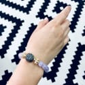 Amethyst With Gray Freshwater Pearls Bracelet image