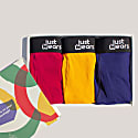 Super Soft Boxer Briefs With Pouch - Anti-Chafe & No Ride Up Design - 3 Pack (Blue, Red & Yellow) image