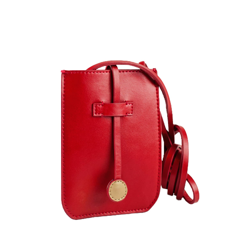67c6cae53304 Cambridge Leather Phone Crossbody Bag Red image