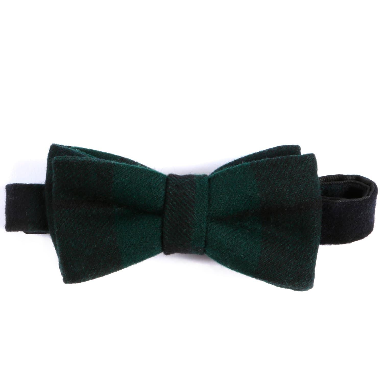 56c9ae31d709 Black Watch Tartan Pure New Wool Pre Tied Bow | EZRA AMARFIO | Wolf ...
